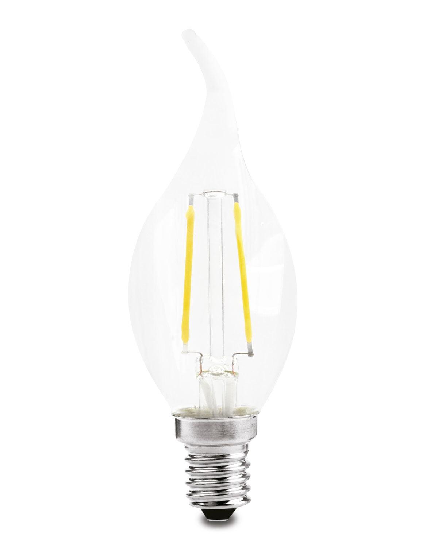 LAMPADA VELA CHAMA LED FILAMENTO 2W 2700K 220V - BR QUENTE
