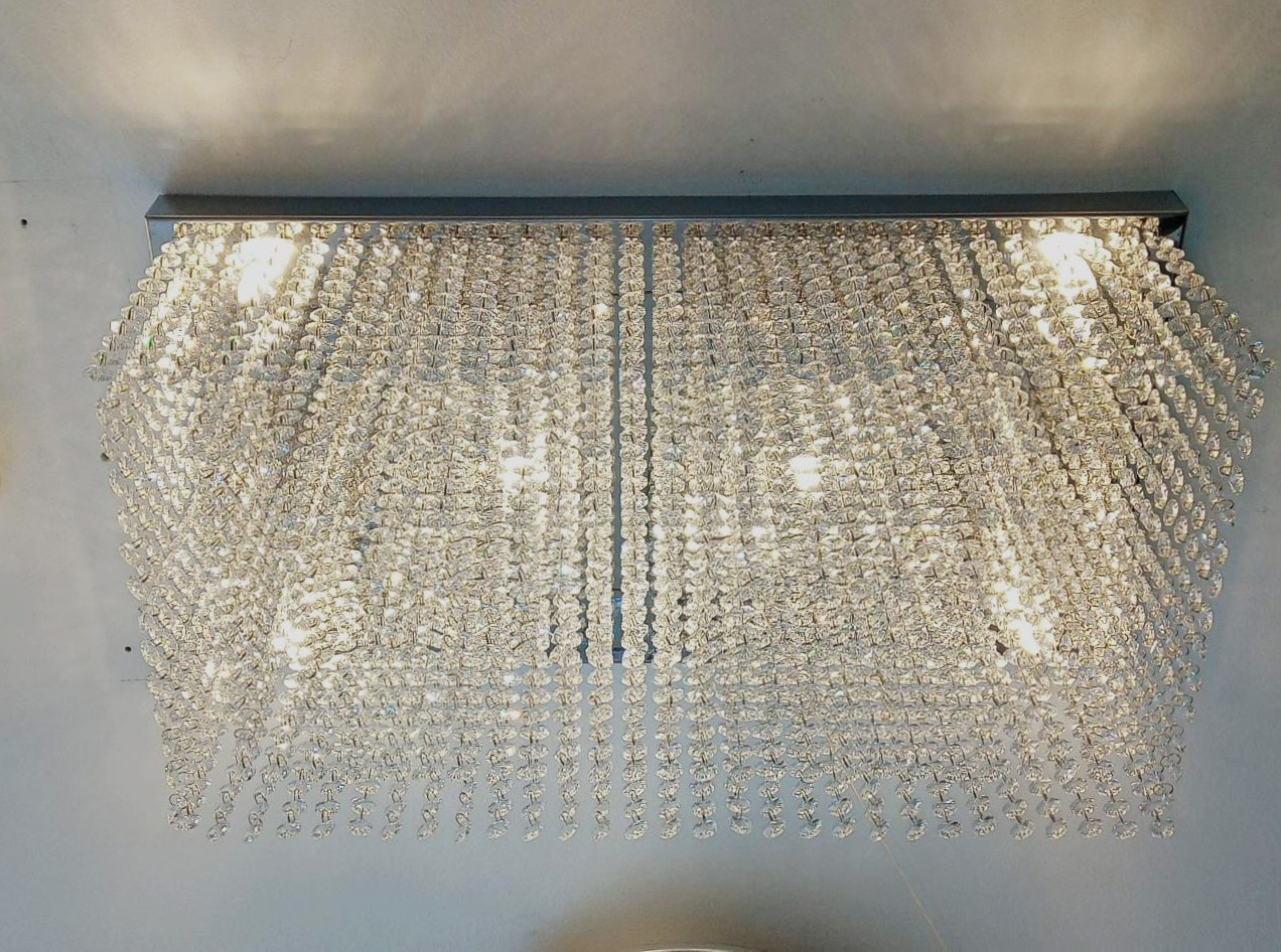 Plafon Dropp Cristal k9 Clear 6L G9 30x60 Palacio
