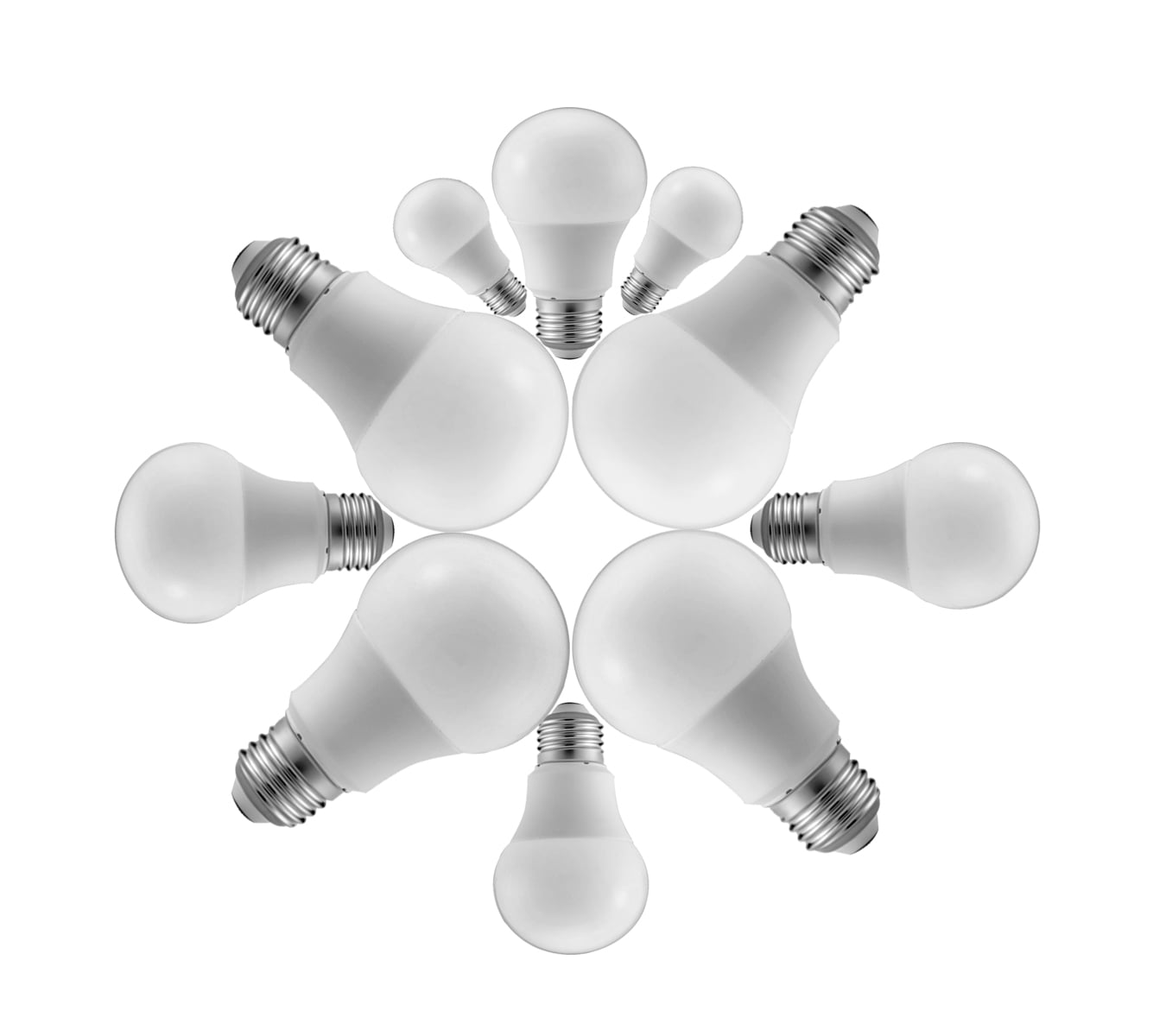 KIT COM 10 LAMPADAS LED BULBO 12W E-27 BIVOLT CERTIFICADA INMETRO