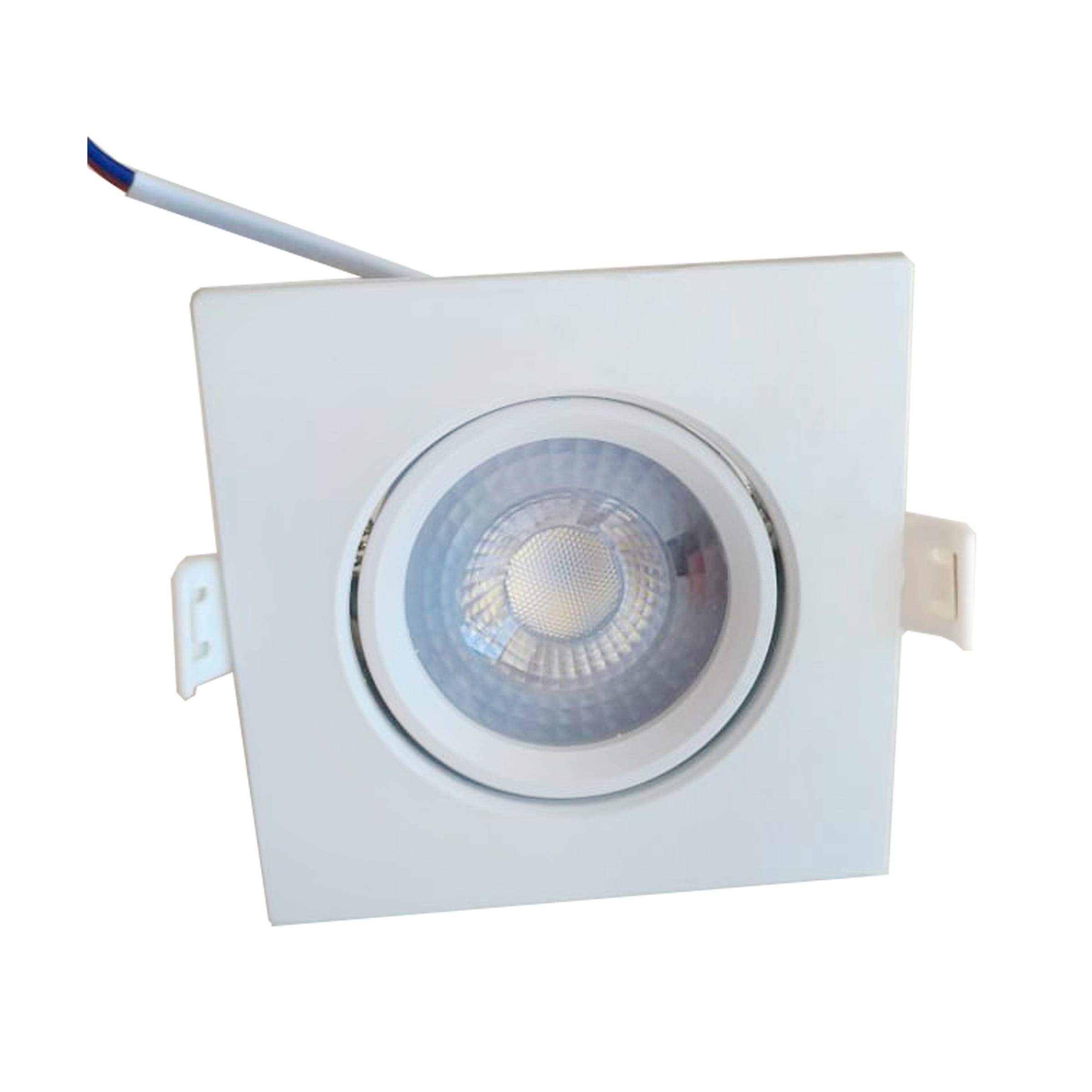 SPOT DICROICA LED EMBUTIR QUADRADO 5W