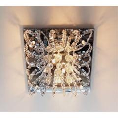 Plafon Quadrado Imperio Cristal 40cm 6L G9 DNA Lustres