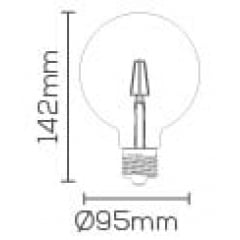 LAMPADA LED BALLOON FILAMENTO G95 4W E-27 BIV. BR. QUENTE
