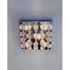 Plafon Cromo Chuva de Cristal 30x30 6L G9 Palacio
