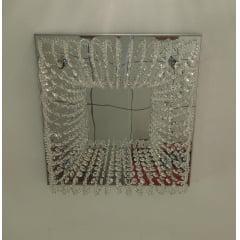Lustre Quadrado Pudim Cristal DNA Lustres 40x40 4Lâmp. G9