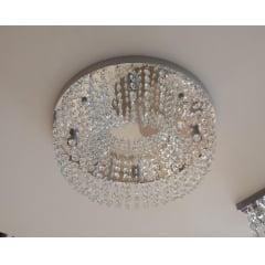 LUSTRE PLAFON DE CRISTAL REDONDO 4L+ LAMPADA LED 3W 2700K
