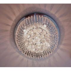 Lustre Cristal Redondo Água Viva 50cm 7L G9 DNA Lustres