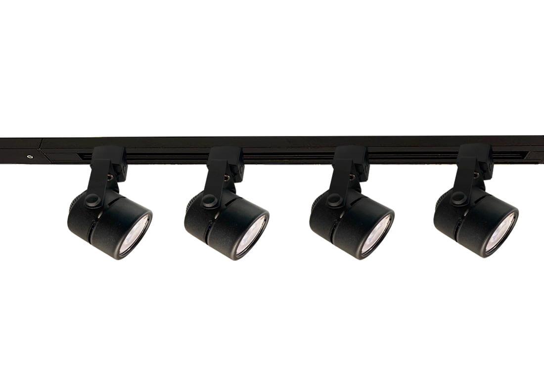 TRILHO ELETRIFICADO 1 METRO COM 4 SPOTS + LAMPADA LED GU10 4,8W